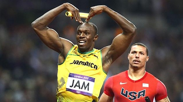 Usain Bolt seals Jamaica's world record in the 4x100m relay (Reuters)