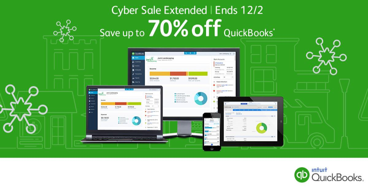 Cyber Monday Extended: Up to 70% Off QuickBooks™