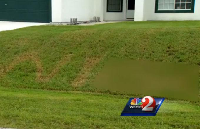 The N-Word Was Written On a Florida Family's Lawn