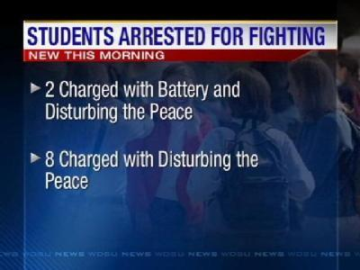10 Students Arrested In School Fight
