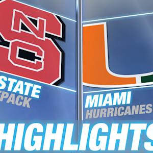 NC State vs Miami | 2014-15 ACC Men's Basketball Highlights