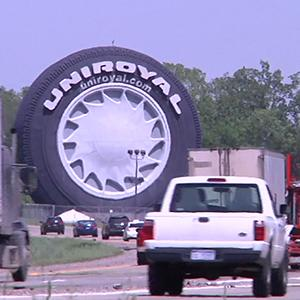Uniroyal Marks 50th Anniversary of Giant Tire
