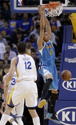 Warriors shake off slow start, beat Hornets 98-88
