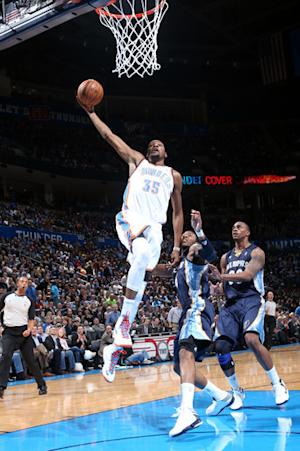 Without Gay, Grizzlies lose to Thunder 106-89