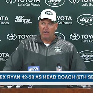 New York Jets head coach Rex Ryan discusses Jets' turnover issues