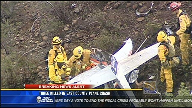 Three killed in East County plane crash