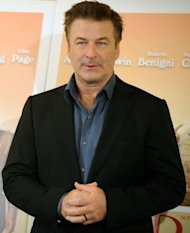 US actor Alec Baldwin poses during the potocall for the film &quot;To Rome With Love&quot;. In the film, Baldwin is a famous architect who bumps into a young man played by Jesse Eisenberg of &quot;Social Network&quot; fame and re-lives his youth