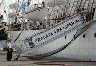 &lt;p&gt;The Argentine frigate Libertad, is shown in a port in Ghana aftert it was seized in connection with a debt dispute. The ship has been stranded in the West African nation of Ghana since a court ordered its seizure over a debt dispute. A Cayman Islands investment fund says Buenos Aires owes it more than $370 million&lt;/p&gt;
