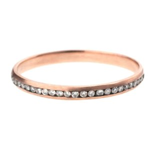 Style 28029, 18K rose gold band with 1.26 carats of diamonds, $4,850, Kwiat