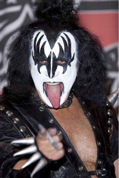 "Gene Simmons of KISS ""Kissology Vol. 1 1974-1977"" DVD signing at Virgin Megastore."