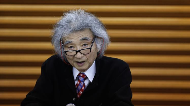 Japan's maestro Ozawa speaks during a news conference in Tokyo