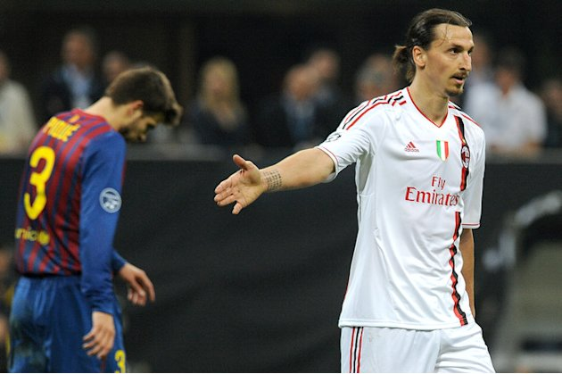 AC Milan's Swedish Forward Zlatan Ibrahimovic Reacts AFP/Getty Images