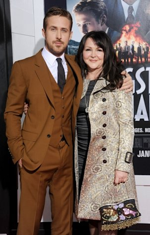 Ryan Gosling and mom Donna arrive at the Los Angeles premiere of &#39;Gangster Squad&#39; at Grauman&#39;s Chinese Theatre on January 7, 2013 in Hollywood, Calif. -- Getty Premium