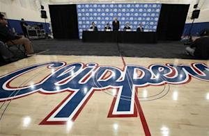Los Angeles Clippers' point guard Paul is introduced at a news conference in Playa Vista