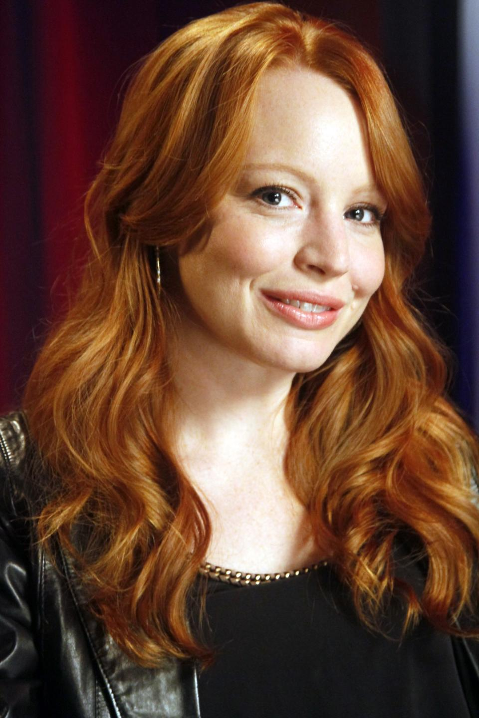 "FILE - In this June 23, 2011 file photo, actress Lauren Ambrose, best known for playing Claire Fisher on the HBO funeral drama series ""Six Feet Under,"" is shown during an interview in New York. Ambrose is starring in the new series, ""Torchwood,"" on the Starz channel. (AP Photo/Bebeto Matthews, file)"