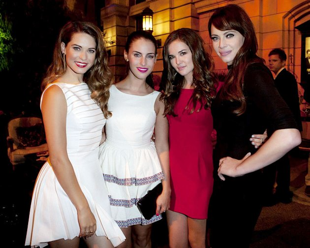 "Lyndsy Fonseca (""Nikita""), Jessica Lowndes (""90210""), Zoey Deutch (""Ringer""), and Melinda Clarke (""Nikita"") attend The CW Fall Premiere party presented by Bing at Warner Bros. Studios on September 10,"