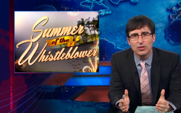 John Oliver Is Getting the Hang of 'The Daily Show' Desk