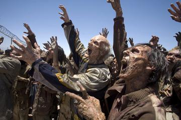 Undead humans in Screen Gems' Resident Evil: Extinction