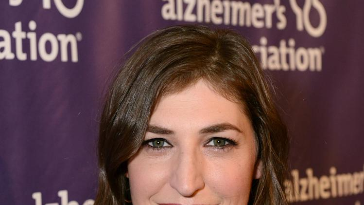 Actress Mayim Bialik arrives at the 21st Annual 'A Night at Sardi's' to benefit the Alzheimer's Association at the Beverly Hilton Hotel on Wednesday, March 20, 2013 in Beverly Hills, Calif. (Photo by Jordan Strauss/Invision for Alzheimer's Association/AP Images)
