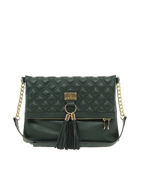 River Island quilted tassel front messenger bag, $43.98, asos.com