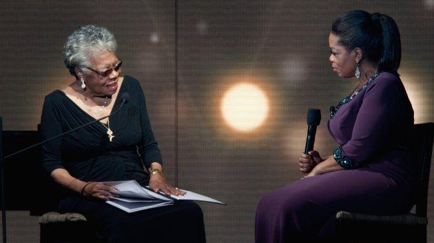 Maya Angelou and Oprah attend the 'Surprise Oprah! A Farewell Spectacular' at the United Center on May 17, 2011 in Chicago -- Getty Images