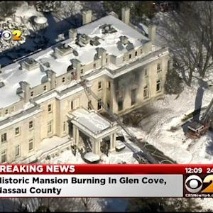 Historic Mansion Catches Fire In Glen Cove