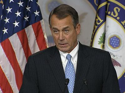 Boehner: Obama Not Standing Up to Democrats