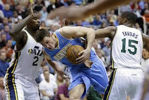 Gallinari, Faried help Nuggets knock Jazz into 9th