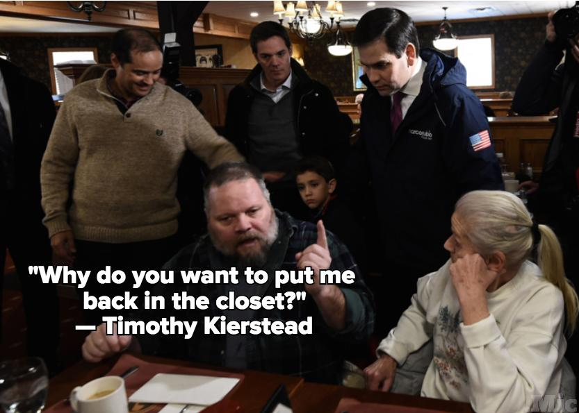 This Is What Happened When a Gay Voter Confronted Marco Rubio in New Hampshire
