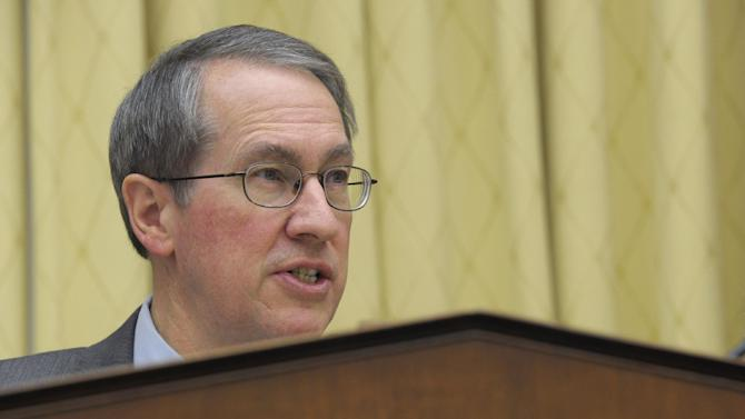 House Judiciary Committee Chairman Rep. Bob Goodlatte, R-Va., gives his opening remarks on Capitol Hill in Washington, Tuesday, Feb. 5, 2013, prior to the committee's hearing on America's Immigration System: Opportunities for Legal Immigration and Enforcement of Laws against Illegal Immigration.  (AP Photo/Susan Walsh)