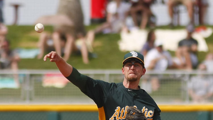 MLB: Spring Training-Oakland Athletics at Cincinnati Reds