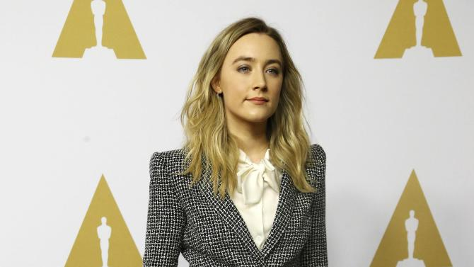 Saoirse Ronan arrives at the 88th Academy Awards nominees luncheon in Beverly Hills