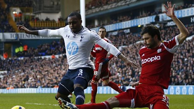 Danny Rose of Tottenham v West Brom (Reuters)