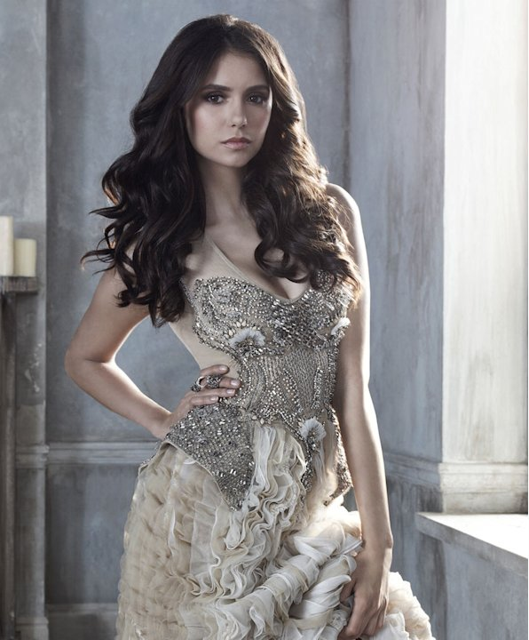 "Nina Dobrev stars as Elena Gilbert in ""The Vampire Diaries."""