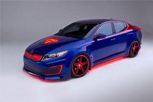 Superman-Inspired Kia Optima Hybrid Soars Into Chicago For Auto Show Debut
