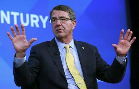 "U.S. Defense Secretary Ash Carter discusses ""Charting Global Security in the 21st Century"" at the Wall Street Journal CEO Council 2015 annual meeting in Washington"