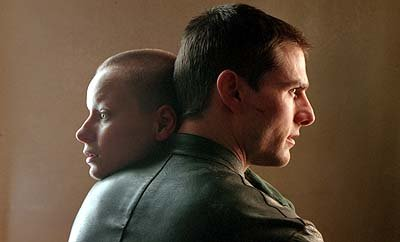 Samantha Morton and Tom Cruise in 20th Century Fox's Minority Report