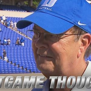 Duke's Head Coach David Cutcliffe Talks Win Over Tulane
