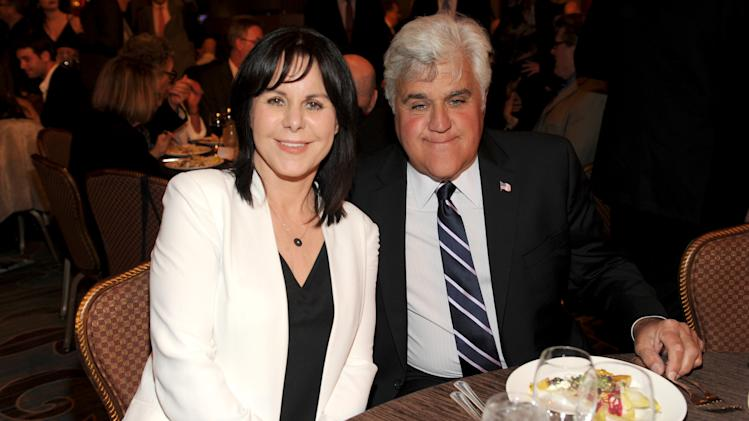 EXCLUSIVE - Mavis Leno, left, and Hall of Fame Inductee Jay Leno attend the 2014 Television Academy Hall of Fame on Tuesday, March 11, 2014, at the Beverly Wilshire in Beverly Hills, Calif. (Photo by Frank Micelotta/Invision for the Television Academy/AP Images)