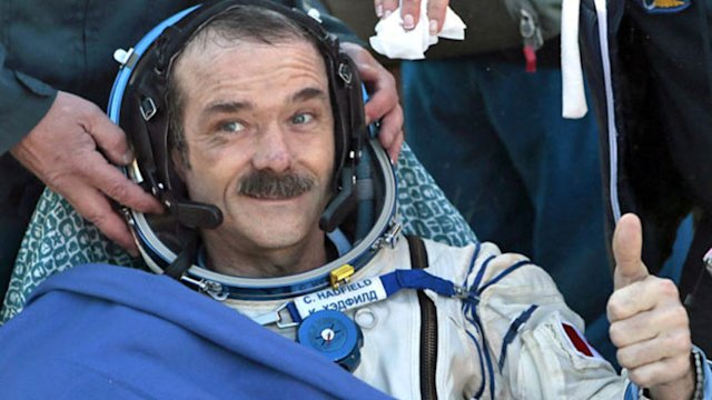 Chris Hadfield in Houston