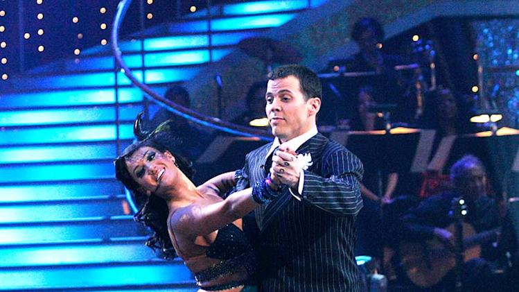 "Steve-O and Lacey Schwimmer perform the Waltz to ""Vito's Waltz"" by 101 Strings Orchestra on ""Dancing with the Stars."""