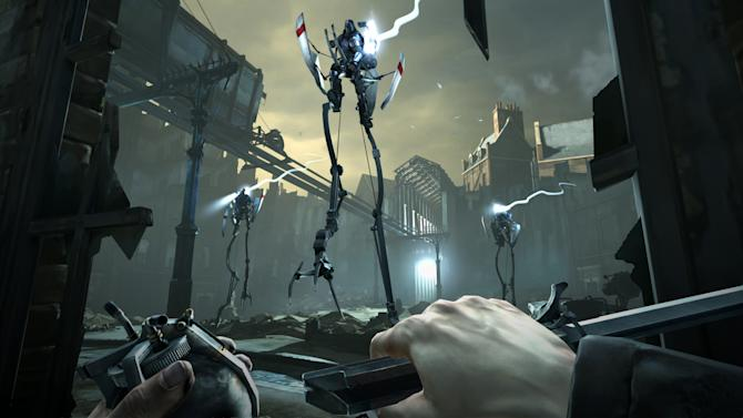 "FILE - This video game image released by Bethesda Softworks shows a scene from ""Dishonored.""  A pair of assassins, a horde of zombies and an intergalactic commander are facing off against a scarf-clad wanderer at the 2012 Spike Video Game Awards. ""Assassin's Creed III,"" ""Dishonored,"" ""The Walking Dead: The Game"" and ""Mass Effect 3"" are competing to become game of the year against ""Journey,"" the artsy downloadable game that leads the 10th annual ceremony's nominees with seven nods. (AP Photo/Bethesda Softworks, File)"