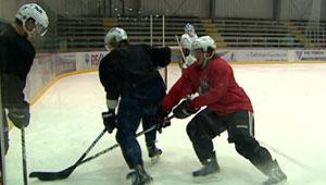 About 20 Winnipeg Jets players rented their own ice time at the MTS Iceplex so they could practise on Monday.