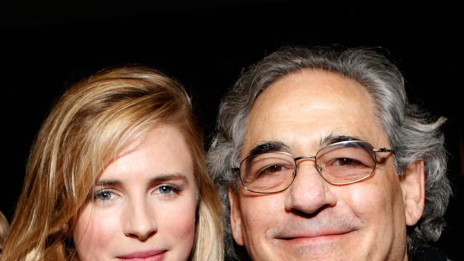 """Actress Brit Marling, left, and Fox Searchlight President Steve Gilula attend Fox Searchlight's """"The East"""" premiere during the Sundance Film Festival on Sunday, Jan. 20, in Park City, Utah. (Photo by Todd Williamson/Invision for Fox Searchlight/AP Images)"""