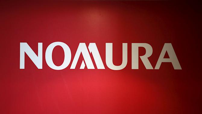 Logo of Nomura Holdings is pictured in Tokyo