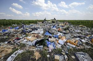 A photo taken on July 23, 2014 shows the crash site…