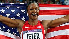 Jeter flies to 100-meter medal