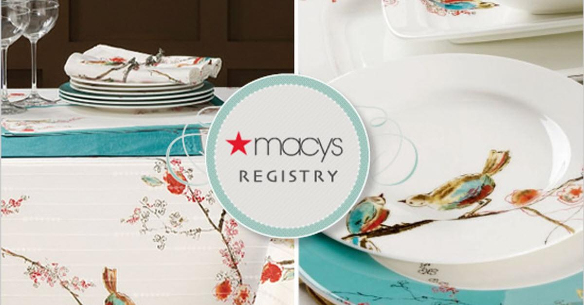 Macy's Wedding Gift Registry