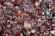 Tens of thousands pack into Cairo&#39;s Tahrir Square. Egypt&#39;s Mohamed Morsi, the first Islamist to be elected president of the Arab world&#39;s most populous nation, said Sunday he will be a leader &quot;for all Egyptians&quot; and called for national unity after a polarising race
