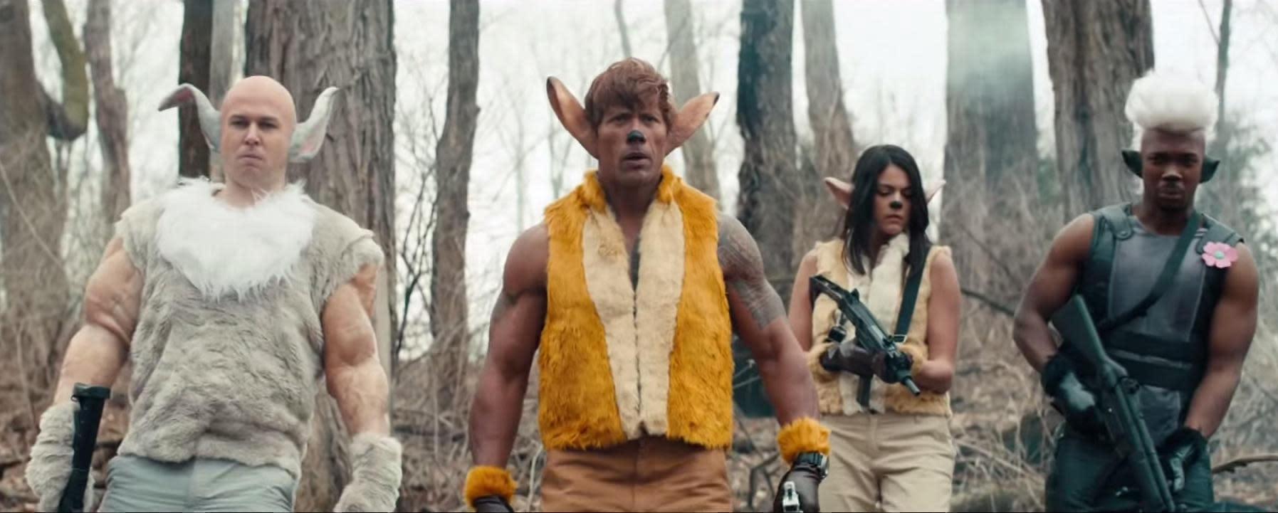 Dwayne 'The Rock' Johnson makes for an imposing 'Bambi'